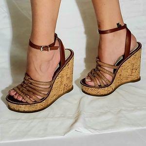 Aldo Strappy Wedge Ankle Strap Platform Heels